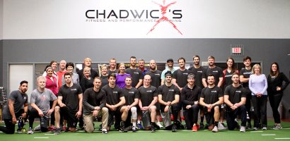 Pro Baseball team at Chadwick's Gym in Franklin TN