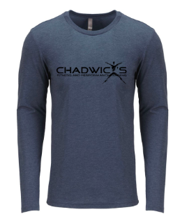 Chadwicks logo on gray shirt for Personal Training, Group Fitness, Sports Training, Strength & Conditioning Class