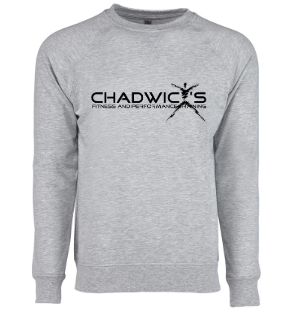 Chadwicks logo on sweater for Personal Training, Group Fitness, Sports Training, Strength & Conditioning Class