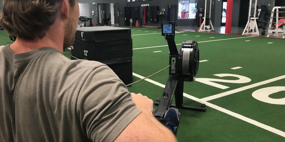 Person on Row machine in Gyms in Franklin TN